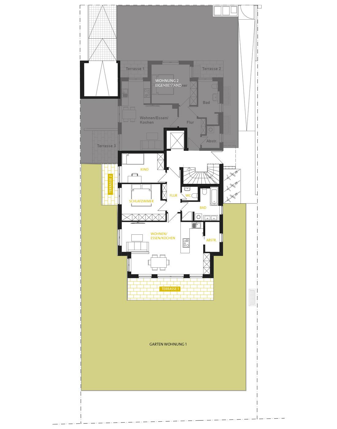 Grundrisse ALLEE 43 Erdgeschoss
