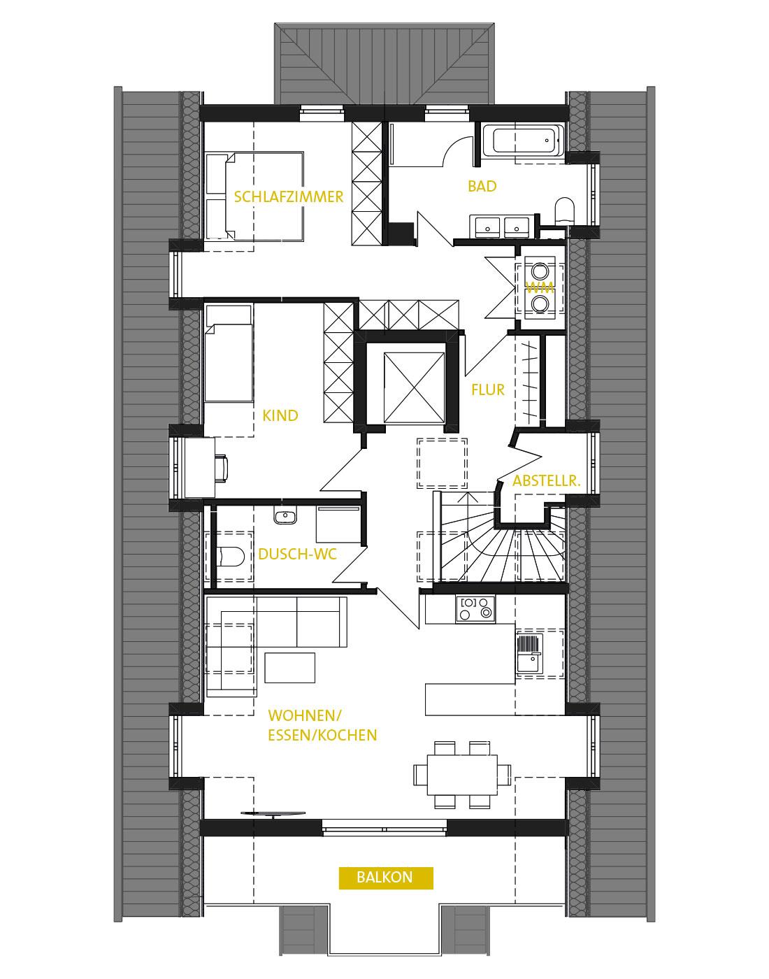 Allee 43 Dachgeschoss Grundriss